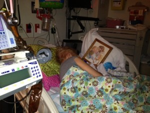 Ashtyn Sleeping WIth Picture Of Jesus