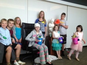 Kids at Easter in the Boardroom