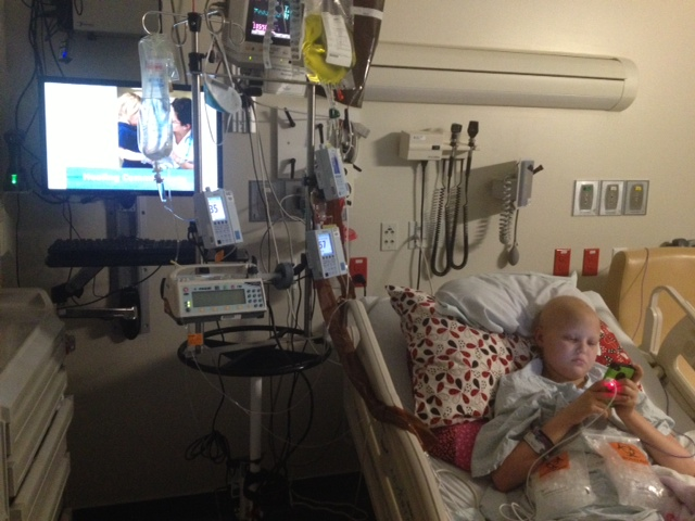 10 Hours After Surgery - Feeling Well Enough To Be On Her Phone